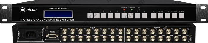 视频信号和音频信号(非平衡立体声音频信号)进行切换和分配的开关设备